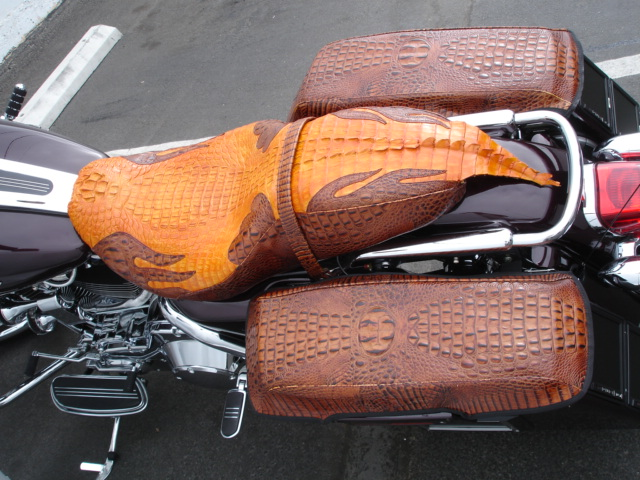 Alligator Motorcycle Seats And Faux Gator Seats For Harley