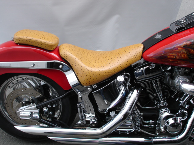 Ostrich Motorcycle Seats For Harley Davidsons And VTX Bikes - Vinyl for motorcycle seat