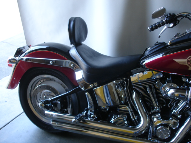 Softail Solo Motorcycle Seat With Driver Backrest For