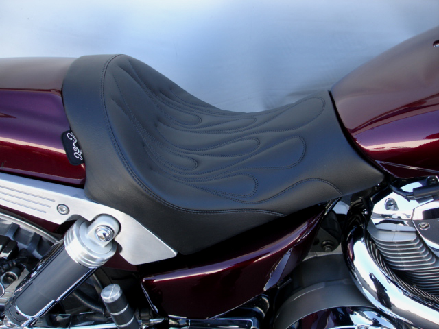 solo seat for a honda vtx 1800f from c&c motorcycle seats