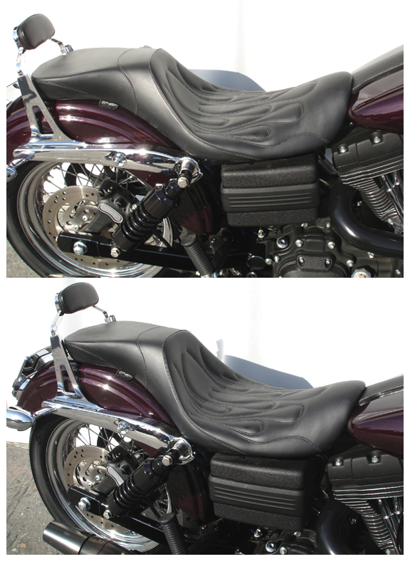 Sport Touring 2Up Seat for Harley Davidson Dyna Glides ...