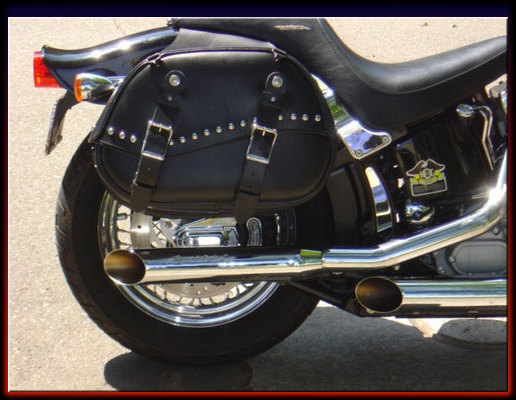 Saddlebags and Matching Motorcycle Seats, The Leatherworks