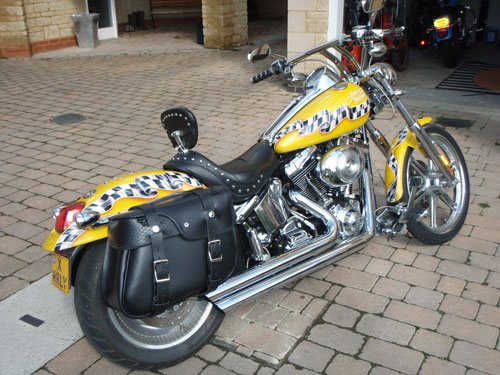 D Fl Saddlebags On A Fatboy Fatboy With Flh Hard Bags together with Img No Plate C Be C E F Af F Ebdc besides Heritage Softail Liberty also Hard Saddlebags Panniers Harley Softail Fat Boy moreover D Deluxe With Roadking Saddlebags Sdc. on harley davidson softail deuce saddlebags