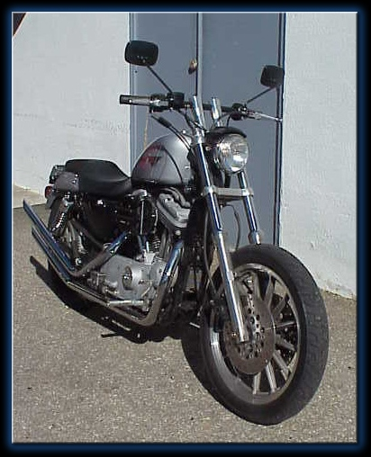 bike photos: harley davidson 1999 sportster 1200 sport, src650-08456, black  broomstick bars, steve lange from santa barbara, ca